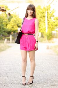 Pink Romper Outfit