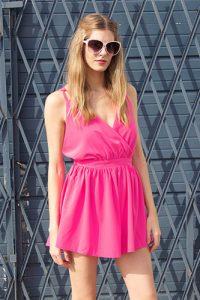 Pink Romper Shorts