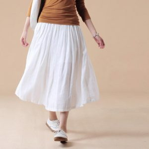 Plus Size Cotton Skirts