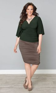 Plus Size Ruched Skirt