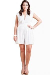 Plus Size White Romper