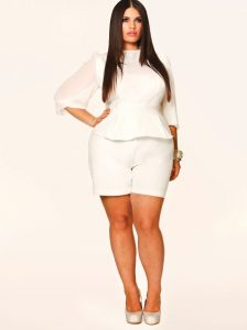Plus Size White Rompers