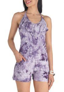 Purple Tie Dye Romper