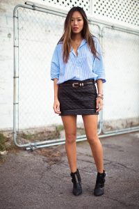 Quilted Skirt Outfit