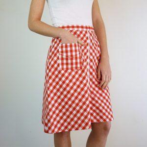 Red Gingham Skirt