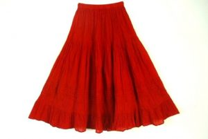 Red Mexican Skirt