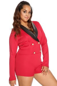 Red Plus Size Romper