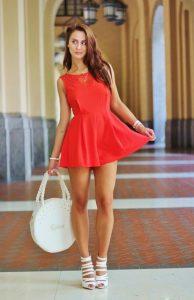 Red Romper Dress