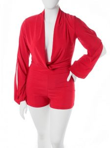 Red Romper Plus Size