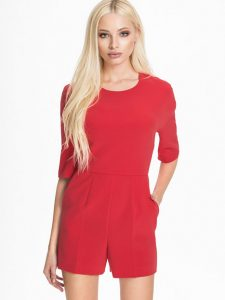 Red Romper Women