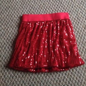 Red Sparkly Skirt
