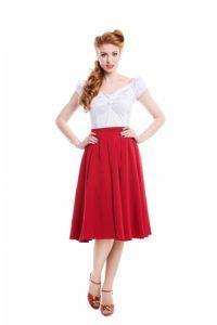 Red Swing Skirt