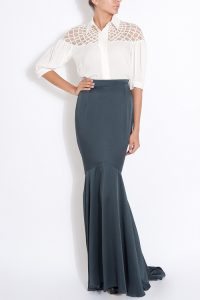 Satin Fishtail Skirt
