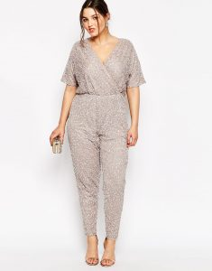 Sequin Jumpsuit Plus Size