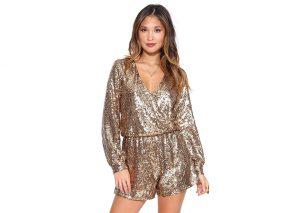 Sequin Romper Dress