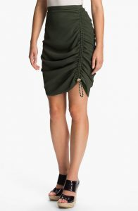 Side Ruched Skirt