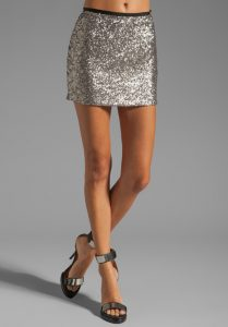 Silver Sparkly Skirt
