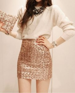 Sparkly Gold Skirt