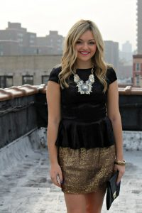 Sparkly Skirt Outfit