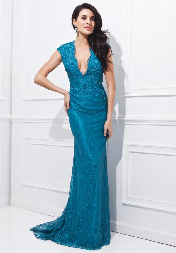 Teal Evening Gowns