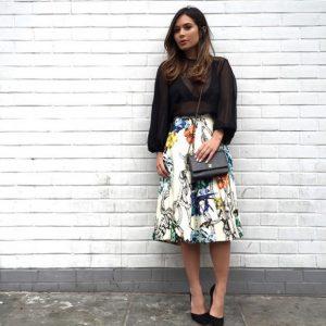 Tibi Floral Skirt