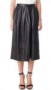 Tibi Leather Skirt