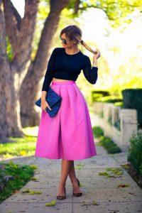 Tibi Pink Skirt
