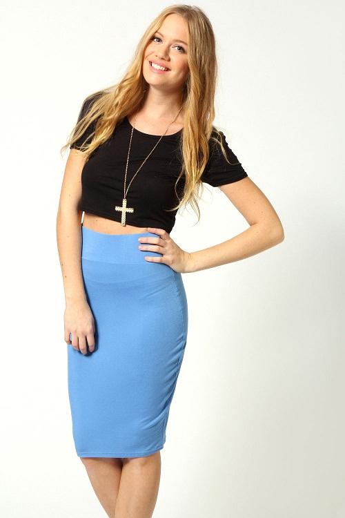 Girl in tight skirt