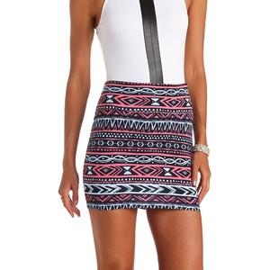 Tribal Print Bodycon Skirt