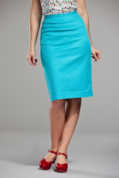 turquoise skirt dressed up girl