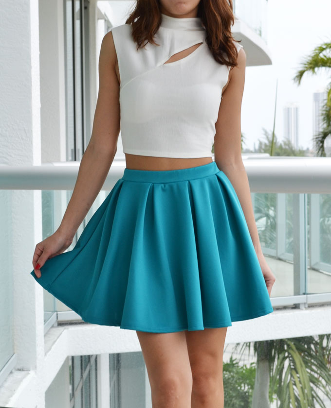 Turquoise Skirt Dressed Up Girl