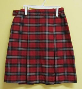 Uniform Plaid Skirts
