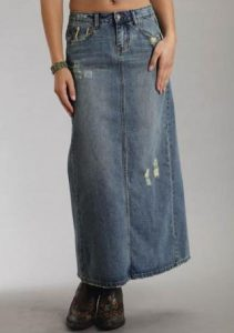 Western Denim Skirt