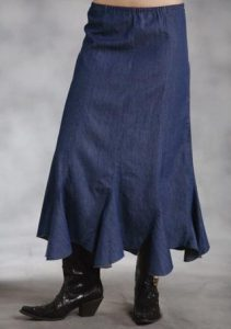 Western Denim Skirts