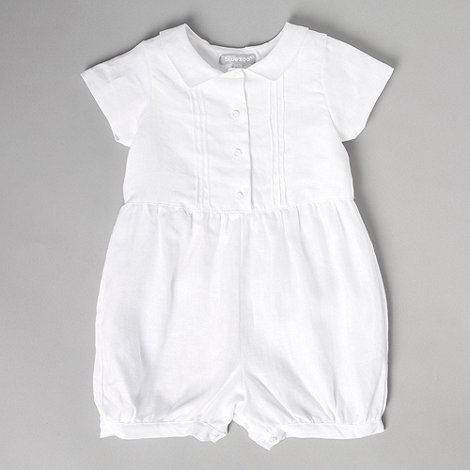 White Romper Dressed Up Girl