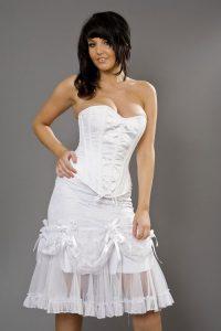 White Burlesque Skirt