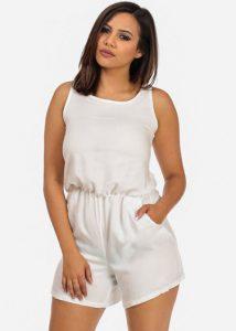 White Cotton Romper