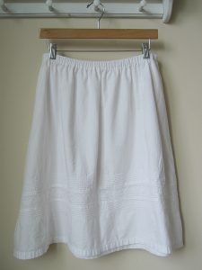 White Cotton Skirts