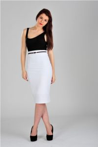 White Formal Skirt
