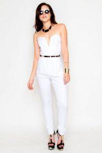 White Jumpsuit Romper