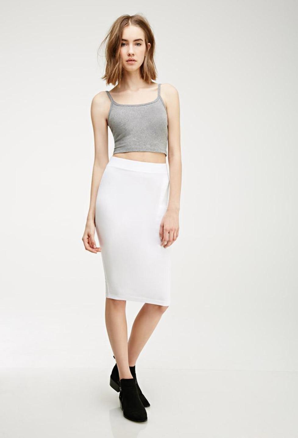 White Knit Pencil Skirt - Dress Ala