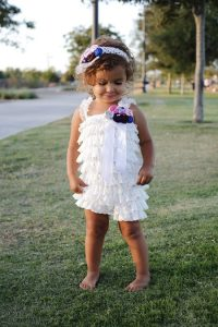 White Lace Romper Baby