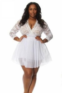 White Lace Romper Plus Size