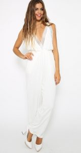 White Long Romper