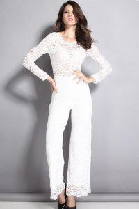 White Pants Romper