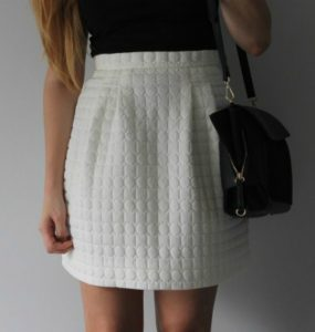 White Quilted Skirt