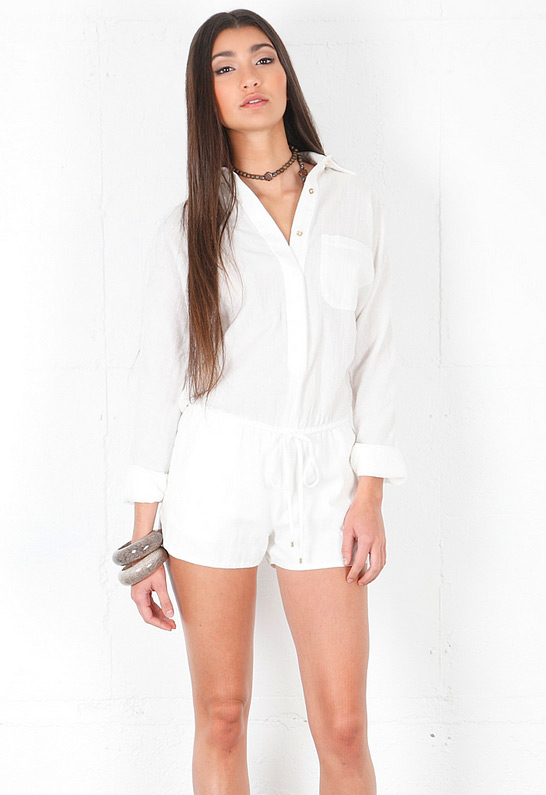 Product Features Full sleeve short casual ladies romper,sexy V neck and adjustable.