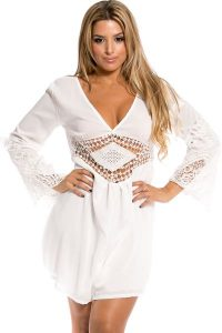 White Rompers Plus Size