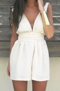 White Womens Romper