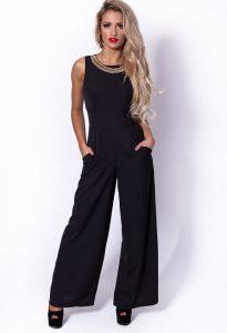 Wide Leg Black Jumpsuit